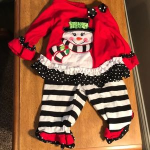Rare editions boutique Christmas snowman outfit